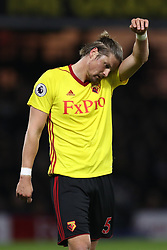 Watford's Sebastian Prodl shows his dejection