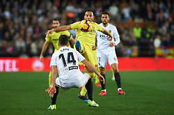 January 26, 2019 - Valencia, Valencia, Spain - Jose Luis Gaya of Valencia CF and Santiago Cazorla of Villarreal CF during the La Liga Santander match between Valencia and Villarreal at Mestalla Stadium on Jenuary 26, 2019 in Valencia, Spain. (Credit Image: © AFP7 via ZUMA Wire)