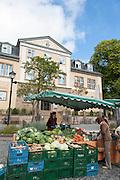 Marktstand, Amthaus (GoetheStadtMuseum), Ilmenau, Thüringen, Deutschland   market stand, Goethe city museum, Ilmenau, Thuringia, Germany