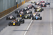 Start of the 62nd Macau Grand Prix led by Daniel TICKTUM, GBR, Motopark Academy Dallara-Volkswagen<br /> <br /> 65th Macau Grand Prix. 14-18.11.2018.<br /> Suncity Group Formula 3 Macau Grand Prix - FIA F3 World Cup<br /> Macau Copyright Free Image for editorial use only