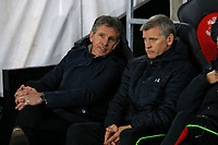 Football - 2016 / 2017 Premier League - Southampton vs. Everton<br /> <br /> Southampton Manager Claude Puel chats to his First Team Assistant Manager Eric Black before kick off at St Mary's Stadium Southampton England<br /> <br /> COLORSPORT/SHAUN BOGGUST