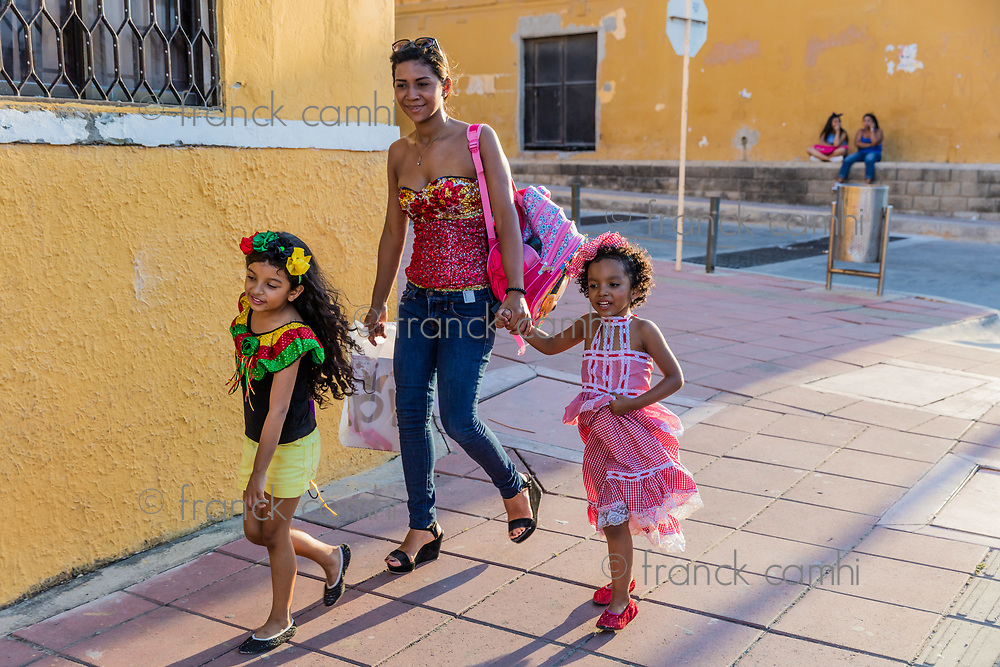Barranquilla , Colombia  - February 24, 2017 : people participating at the parade of the carnival festival of  Barranquilla Atlantico Colombia