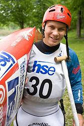 Jure Lenarcic of KKK Tacen after he competed in the Men's Canoe Single C-1 at kayak & canoe slalom race on May 9, 2010 in Tacen, Ljubljana, Slovenia. (Photo by Vid Ponikvar / Sportida)