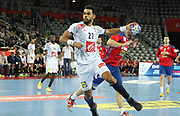 Adrien Dipanda (France) during the EHF 2018 Men's European Championship, 2nd Round, Handball match between Serbia and France on January 22, 2018 at the Arena in Zagreb, Croatia - Photo Laurent Lairys / ProSportsImages / DPPI