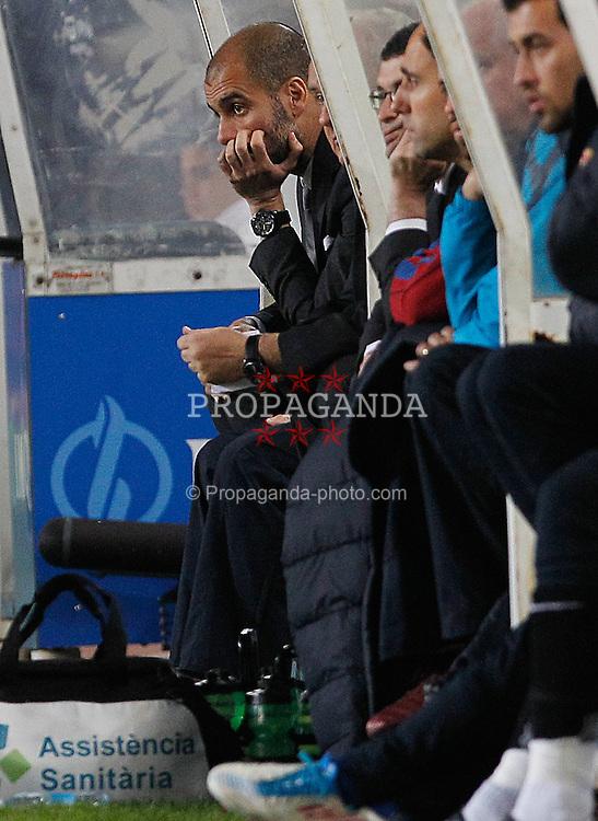 30.04.2011, Anoeta, San Sebastian, ESP, Primera Division, Real Sociedad vs FC Barcelona, im Bild FC Barcelona's coach coach Pep Guardiola during La Liga match. EXPA Pictures © 2011, PhotoCredit: EXPA/ Alterphotos/ Acero +++++ ATTENTION - OUT OF SPAIN / ESP +++++