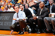KNOXVILLE, TN - JANUARY 7: Florida Gators head coach Billy Donovan looks on during the game against the Tennessee Volunteers at Thompson-Boling Arena on January 7, 2012 in Knoxville, Tennessee. Tennessee defeated Florida 67-56. (Photo by Joe Robbins) *** Local Caption *** Billy Donovan