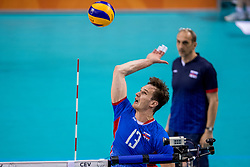 28-05-2017 NED: 2018 FIVB Volleyball World Championship qualification day 5, Apeldoorn<br /> Nederland - Slowakije / Stefan Jr Chrtiansky #13