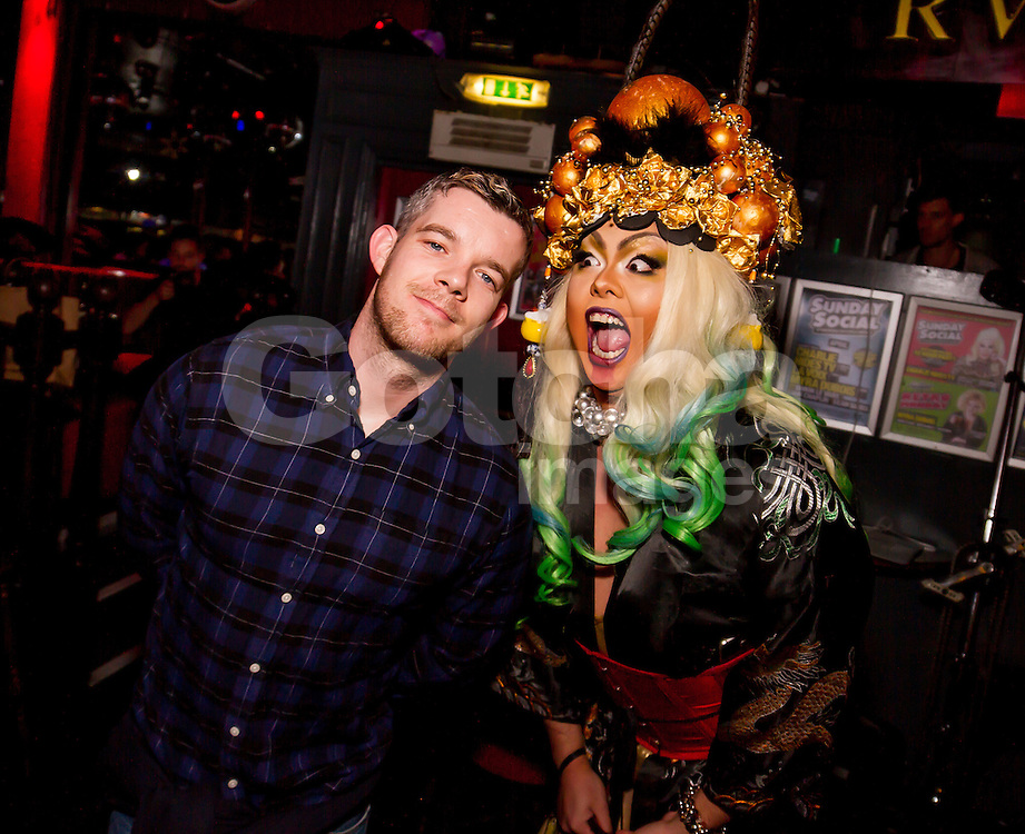 (EXCLUSIVE PICTURES) Actor Russell Tovey at 'Pride's Got Talent, cabaret semi-final' at the Royal Vauxhall Tavern in London, UK. 20/04/2016<br />