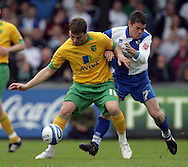 Bristol - Saturday May 1st, 2010: Stuart Campbell (R) of Bristol Rovers in action against Chris Martin of Norwich City during the Coca Cola League One match at The Memorial Stadium, Bristol. (Pic by Mark Chapman/Focus Images)..