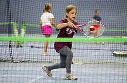"Fan tennis event for kids named ""Play tennis"" by Tenis Slovenija, on May 26, 2018 in BTC - Millenium centre Ljubljana, Slovenia. Photo by Vid Ponikvar / Sportida"