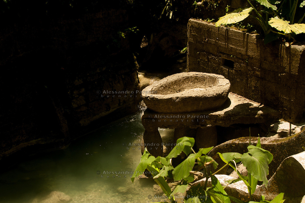 Las pozas. La zona piu' alta del parco e' caratterizzata dall'acqua, alcune poZze permettono ai visitatori di rinfrescarsi.