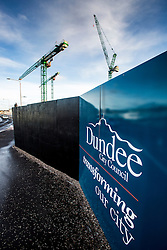 Building work in the Waterfront area of Dundee. Scotland's schemes story, Hilltown area of Dundee.