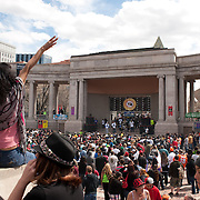 A live concert at Civic Center Park ampitheatre, which would later be the site of shootings on 4/20/13.