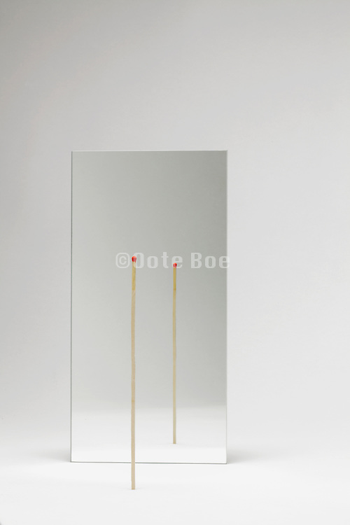 mirror with a very long match