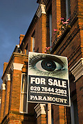 For Sale sign, West Hampstead, London
