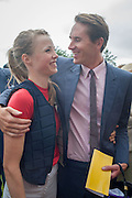 EDIE CAMPBELL; OTIS FERRY, Ladies Day, Glorious Goodwood. Goodwood. August 2, 2012