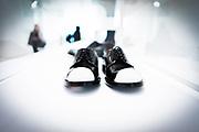Shoes, designed by Jil Sander, seen at her exhibition &quot;Pr&auml;sens&quot; at MAK Museum f&uuml;r Angewandte Kunst in Frankfurt, Germany<br /> <br /> photo &copy; peter-juelich.com