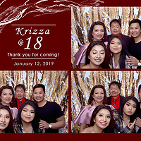 Krizza's 18th Birthday Photo Booth