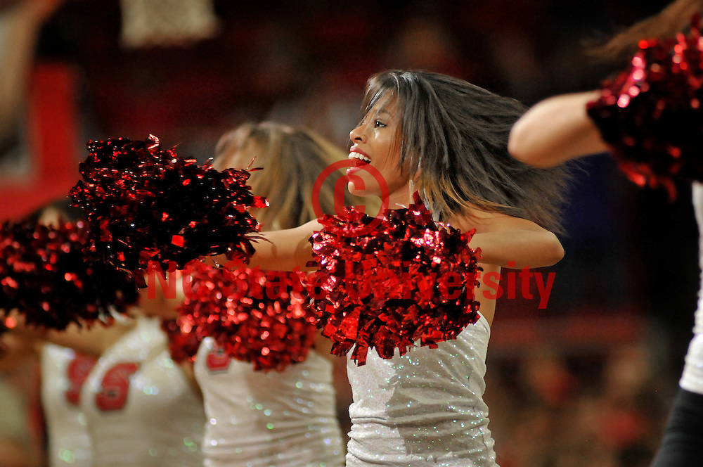 The Dance Team entertains the crowd during half-time.