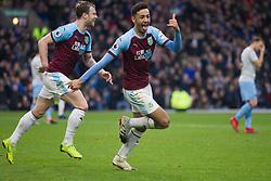 Dwight McNeil of Burnley (R) celebrates after scoring his sides second goal - Mandatory by-line: Jack Phillips/JMP - 30/12/2018 - FOOTBALL - Turf Moor - Burnley, England - Burnley v West Ham United - {event}
