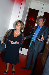 MR & MRS JEREMY CLARKSON at the 60th birthday party for Chris Wright held at Sketch, Conduit Street, London W1 on 7th September 2004.
