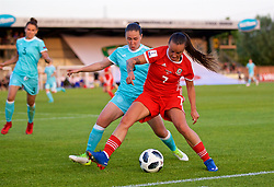 NEWPORT, WALES - Tuesday, June 12, 2018: Wales' Natasha Harding during the FIFA Women's World Cup 2019 Qualifying Round Group 1 match between Wales and Russia at Newport Stadium. (Pic by David Rawcliffe/Propaganda)