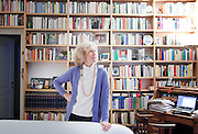 Italy, Milan, journalist, writer Isabella Bossi Fedrigotti in her house .