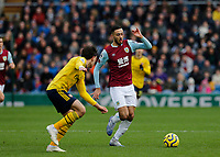 Football - 2019 / 2020 Premier League - Burnley vs. Arsenal<br /> <br /> Dwight McNeil of Burnley goes past Hector Bellerín of Arsenal, at Turf Moor.<br /> <br /> <br /> COLORSPORT/ALAN MARTIN