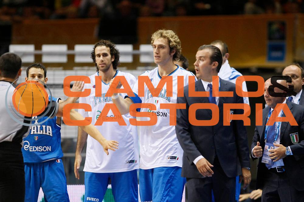 DESCRIZIONE : Siauliai Lithuania Lituania Eurobasket Men 2011 Preliminary Round Lettonia Italia Latvia Italy<br /> GIOCATORE : Team Italia Italy<br /> SQUADRA : Italia Italy<br /> EVENTO : Eurobasket Men 2011<br /> GARA : Lettonia Italia Latvia Italy<br /> DATA : 02/09/2011 <br /> CATEGORIA : esultanza jubilation<br /> SPORT : Pallacanestro <br /> AUTORE : Agenzia Ciamillo-Castoria/M.Metlas<br /> Galleria : Eurobasket Men 2011 <br /> Fotonotizia : Siauliai Lithuania Lituania Eurobasket Men 2011 Preliminary Round Lettonia Italia Latvia Italy<br /> Predefinita :
