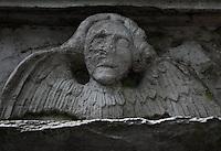 Angel on a Graven in Aberdeen, Scotland Cemetery