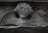 Angel on a Graven in Aberdeen, Scotland Cemetery