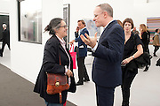 HANS-ULRICH OBRIST, OPENING OF FRIEZE ART FAIR. Regent's Park. London.  12 October 2011. <br /> <br />  , -DO NOT ARCHIVE-© Copyright Photograph by Dafydd Jones. 248 Clapham Rd. London SW9 0PZ. Tel 0207 820 0771. www.dafjones.com.