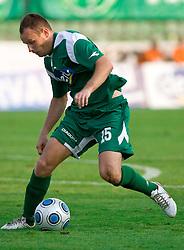 Jalen Pokorn of Olimpija  at football match between NK Olimpija vs Hit Gorica in 11th Round of Prva liga 2009 - 2010,  on September 27, 2009, in ZSD Ljubljana, Ljubljana, Slovenia.  (Photo by Vid Ponikvar / Sportida)