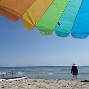 A beach scene in the height of summer on Cisco Beach, Nantucket, Nantucket Island, Massachusetts, USA. Photo Tim Clayton