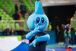 Mascot during futsal match between Poland and Russia at Day 1 of UEFA Futsal EURO 2018, on January 30, 2018 in Arena Stozice, Ljubljana, Slovenia. Photo by Ziga Zupan / Sportida