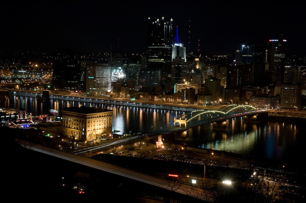 Night view, Pittsburgh, PA