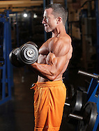 Monroe, New York - Body builder Matt Carey at Bollenbach's Gym on Sept. 12, 2010.