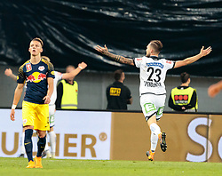 09.05.2018, Woerthersee Stadion, Klagenfurt, AUT, OeFB Uniqa Cup, SK Puntigamer Sturm Graz vs FC Red Bull Salzburg, Finale, im Bild Lukas Spendlhofer (SK Puntigamer Sturm Graz) feiert das 1:0 durch Stefan Hierländer (SK Puntigamer Sturm Graz) // during the final match of the ÖFB Uniqa Cup between SK Puntigamer Sturm Graz and FC Red Bull Salzburg at the Woerthersee Stadion in Klagenfurt, Austria on 2018/05/09. EXPA Pictures © 2018, PhotoCredit: EXPA/ Johann Groder