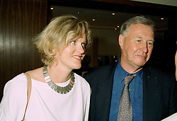 MISS VICTORIA DAVIS and her good friend SIR TERENCE CONRAN the leading restaurateur, at a party in London on 11th June 1997.LZG 25