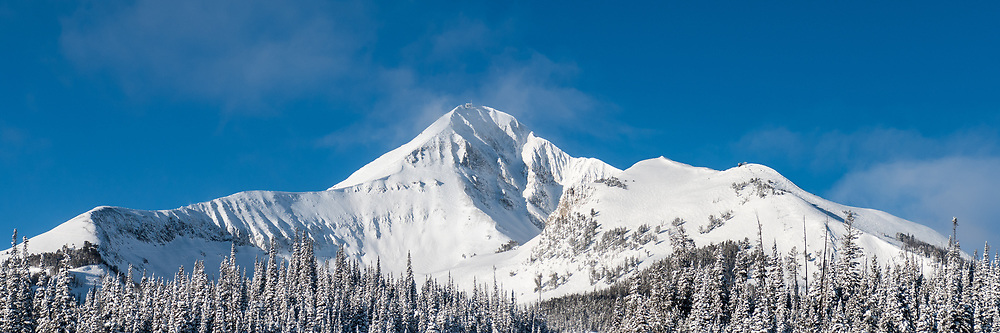 A snowy morning on Lone Peak in Big Sky, Montana.  Limited Edition - 75