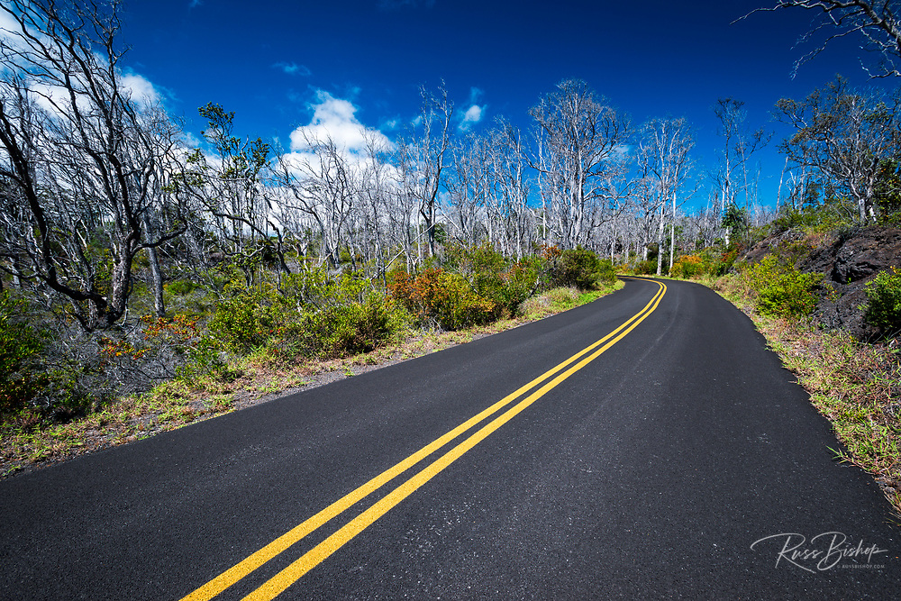 Mauna Loa Scenic Road, Hawaii Volcanoes National Park, Hawaii USA