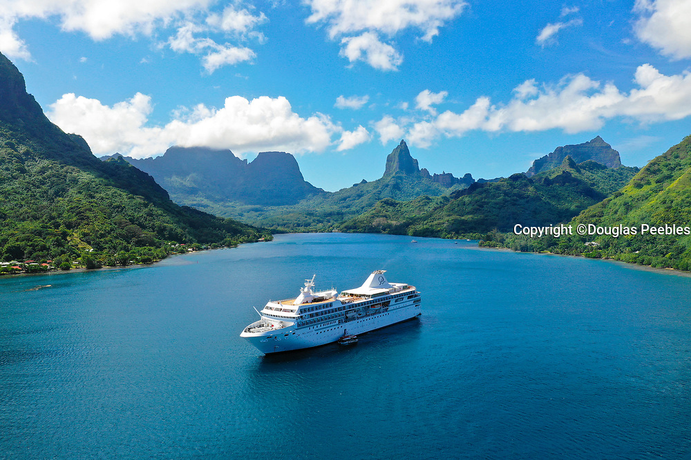 Paul Gauin Cruise ship, Opunohu Bay, Moorea, Society Islands, French Polynesia; South Pacific
