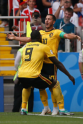 June 23, 2018 - Moscou, Rússia - MOSCOU, MO - 23.06.2018: BÉLGICA Y TÚNEZ - Belgium's Edezarazard celebrates after scoring his second goal during Belgium-Tunisia match valid for the second round of Group G of the 2018 World Cup, held at the Otkrytie Arena in Moscow, Russia. (Credit Image: © Marcelo Machado De Melo/Fotoarena via ZUMA Press)