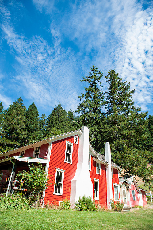 Historic homestead on the Rogue River, Oregon.