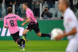 25.10.2011, Juventus Stadio, Turin, ITA, Serie A, Juventus Turin vs AC Florenz, im Bild Football Calcio Juventus FiorentinaL'esultanza per il gol di Leonardo Bonucci ( Juventus ) .Goal celebration.Torino 25/10/2011 Juventus Stadium.Serie A 2011/2012 .Football Calcio Juventus Fiorentina // during Serie A footballmatch between Juventus Turin vs AC Florenz at Juventus Stadium, Turin, Italy on 25/10/2011. EXPA Pictures © 2011, PhotoCredit: EXPA/ InsideFoto/ Giorgio Perottino +++++ ATTENTION - FOR AUSTRIA/(AUT), SLOVENIA/(SLO), SERBIA/(SRB), CROATIA/(CRO), SWISS/(SUI) and SWEDEN/(SWE) CLIENT ONLY +++++