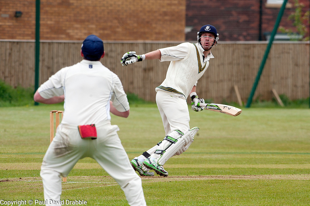 Mark Wright no4 bat for Upper Haugh...19  May 2012.Image © Paul David Drabble