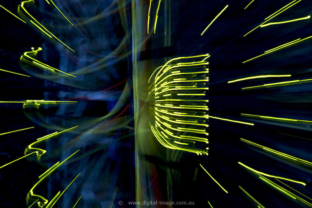 Support Services, Australian Synchrotron,   IT Department.   Massive abstract lights
