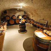 Cellar of restaurant in Chablis