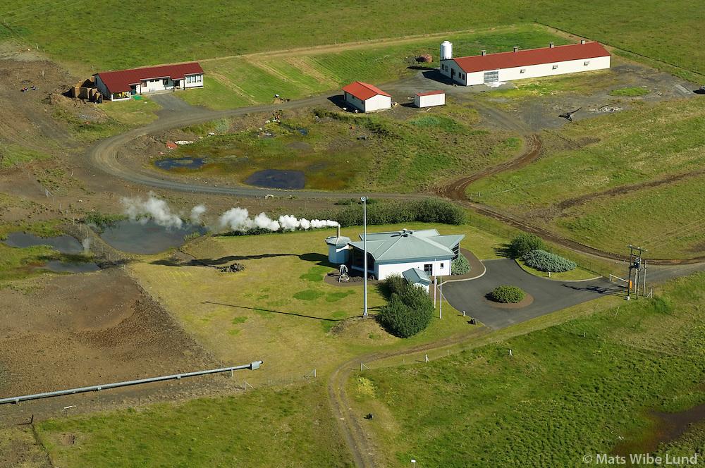 Bakki Hitaveita &THORN;. s&eacute;&eth; til nor&eth;urvesturs, &Ouml;lfushreppur / Bakki, Geothermal well priding Thorlakshofn for OR. Olfushreppur.<br /> #<br /> N&yacute;tt nafn:  Sveitarf&eacute;lagi&eth; &Ouml;lfus  /  New name of the municipality: Sveitarfelagid Olfus.