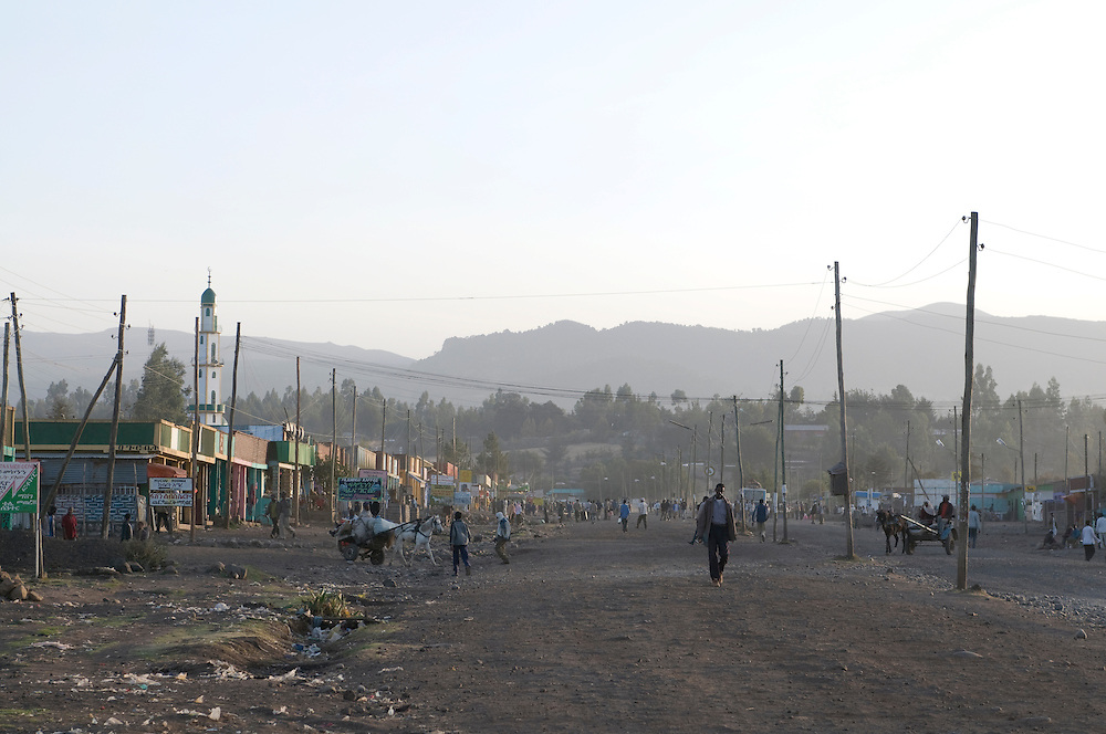 Dusty road in Gopa, Bale moutains, Ethiopia,Africa